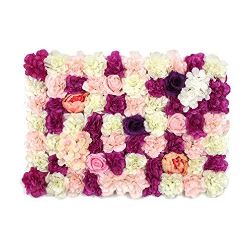 RainBabe Künstliche Blumen Foto Hintergrund Künstliche Blumen Wand für Foto Hintergrund Hochzeit Dekoration