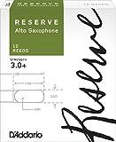 D\'Addario Woodwinds DJR10305 Reserve Boîte de 10 Anches pour Saxophone Alto Force 3+ Blanc