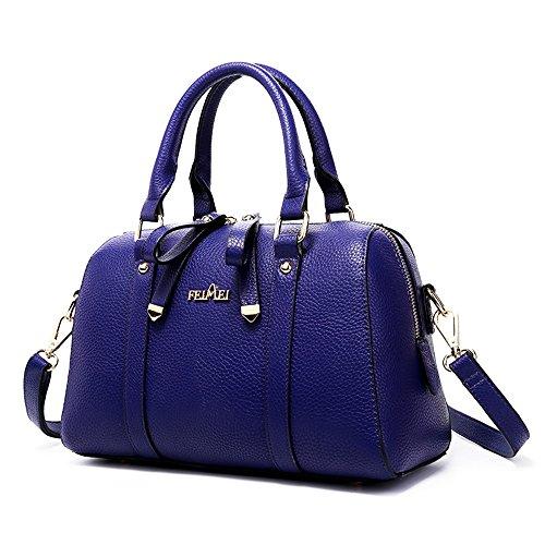 Grande borsa della madre, borsa coreana selvaggia della cinghia coreana di modo, grande zaino obliquo della spalla di capacità ( Colore : Nero ) Blu zaffiro