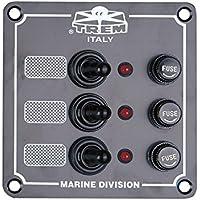 Panel eléctrico Serie Marine con interruptores estanques y pilotos luminose