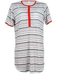 Damen Nachthemd / Nachtkleid aus 100 % Baumwolle - verschiedene Farben