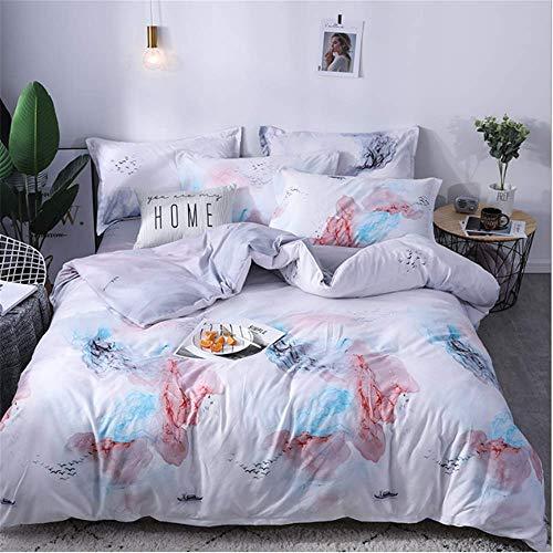 SHJIA Lace Bedding Set Größe Bettbezug Set Euporean Muster King Size Tröster Set G 150x200cm - Grün Lila Und Tröster