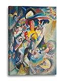 Wassily Kandinsky - Mosca II (1916), 60x40 cm, Stampa su tela incorniciata su telaio in legno genuino e pronto per appendere, stampa di alta qualità prodotto in Germania.