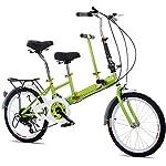 """51HfqAeMgkL. SS150 SHIOUCY Tandem Bicicletta pieghevole da 20"""", per adulti, per bambini, Travel Bicycle Camp, 2 posti, pieghevole, per bambini"""