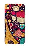 Oppo A37 Case, Paris Pattern Violet Slim Fit Hard Case Cover/Back Cover for Oppo A37