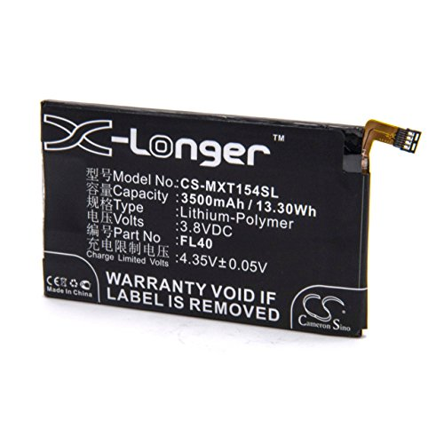 vhbw Li-Polymer Batteria 3500mAh (3.8V) per cellulari e smartphone Motorola Moto X 3a, X 3a Dual sostituisce FL40, SNN5963B.