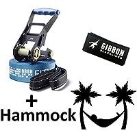 Gibbon Fitness Line 15 Metre Slackline Slack Line Set 15896 + Tukeke Hammock