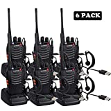 Walkie Talkie Professionali Lunga Distanza Radio Ricetrasmittenti Portatile Ricaricabile Walky Talky (USB 6PZ)