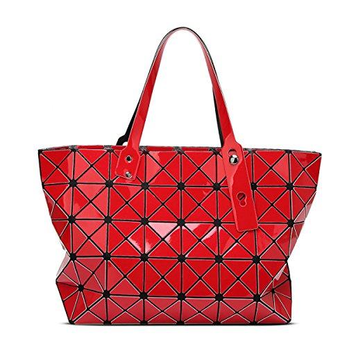 2017 Neu Falzen Geometrie Lingge Handtaschen Schulter Handtasche Red