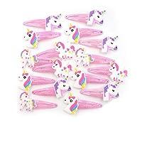 Gifts & Goodies 10 Unicorn Hair Clips Kids Girl Hair Accessories Hairclips Hair Slides UK Seller