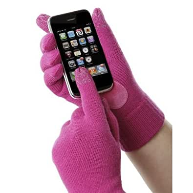 Isotoner Smartouch Pink Knit Women's Gloves