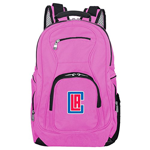DENCO NBA Los Angeles Clippers Voyager Laptop Backpack, 19-inches, Pink