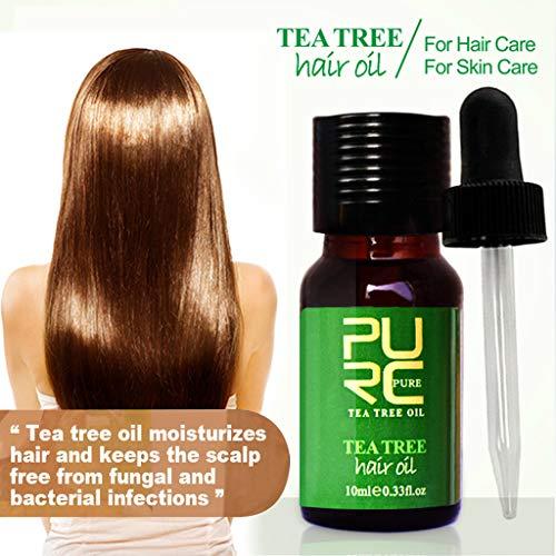 Anti Chute Cheveux, Essence de théier, Hair Serum, Croissance Cheveux Huile Essentielle, anti chute de cheveux homme, Sérum capillaire naturel à base de plantes