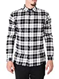 ONLY & SONS Herren Freizeithemd onsSVEN LS Shirt Mehrfarbig (Black Checks:W/White CHEKS) Large