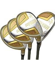 Japon Epron TRG hybrides Club de golf bois Set + Housse cuir (16,19,21,24degré Loft, Regular Flex, prise en main Standard, Lot de 4)