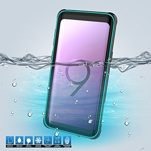 Samsung Galaxy S9 Plus Waterproof Case, Premium Heavy Duty Outdoor/Indoor Shockproof Bumper Cover with Screen Protect Film Compaatible with Samsung Galaxy S9 Plus (Green)