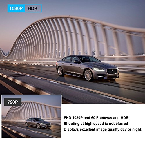 "51HfvFsJbCL - CACAGOO Dashcam Cámara de Coche 2.7""TFT LCD HD Car DVR 1080p H.264 Gran Angular 150° Sony IMX 323 Sensor detección de Movimiento Loop Recording visión Nocturna G-Sensor (170°)"