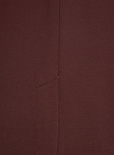 oodji Collection Damen Jersey-Rock mit Schlitz Rot (4900N)