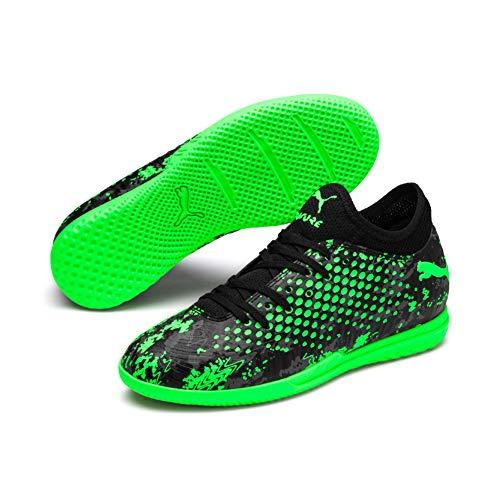 Puma Jungen Future 19.4 IT Jr Multisport Indoor Schuhe, Schwarz Black-Charcoal Gray-Green Gecko, 29 EU (Schuhe Black All Puma)