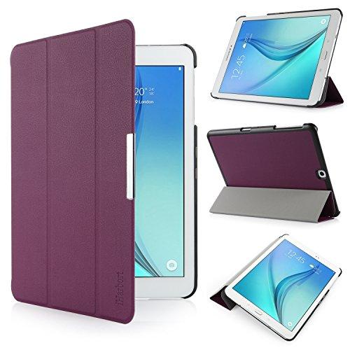 Samsung Galaxy Tab S2 9.7 Hülle - iHarbort® Premium Samsung Galaxy Tab S2 9.7 Zoll T810 Leder Tasche Hülle Etui Schutzhülle Case Holder Stand mit Smart Auto Wake / Sleep-Funktion - S2 Lila Case