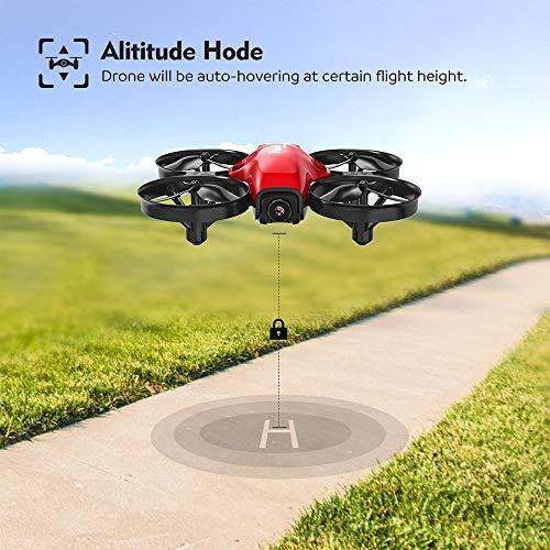 Potensic Drone con Telecamera HD Mini Drone Telecomando A30W Quadricottero WiFi modalità Senza Testa, Adatto per Principianti, Buon Regalo per Bambini (Rosso) - 5
