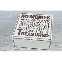 Global Designs Memory Box Keepsake Box Always Moments to be Treasured Wooden Medium F0808