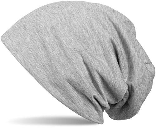 styleBREAKER klassische Slouch Beanie Mütze, leicht, Unisex 04024018, Farbe:Grau...