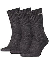 PUMA Unisex Crew Socks Socken Sportsocken MIT FROTTEESOHLE 18er Pack (Anthrazit, 47-49)