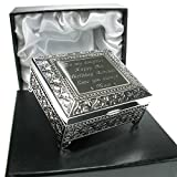 Girl's 18th Birthday Gift, Girl's 18th Birthday Silver Plated Trinket Box in a