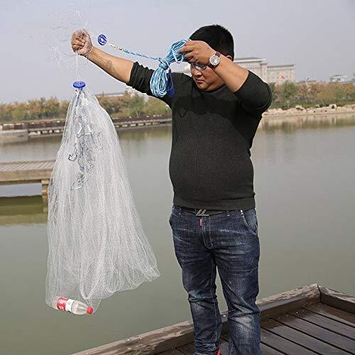 BYDRDYW Finefish 0,5 * 0,5 cm Kleine Mesh Cast Net Outdoor Fang Fischernetz Ziehen Gill Netzwerk Jagd Fly Hand Werfen Netze