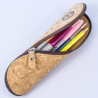 51Hg%2Bb8tS L. SS416  - Estuche de gafas delgadas, estuche de lápices y cartuchera ~ Estuche suave de corcho portugués, estilo vintage, hecho a mano