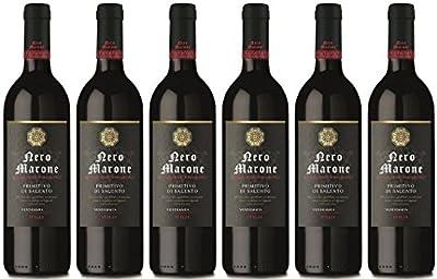 Nero Marone Primitivo di Salento Rotwein aus Italien 2016/2017 (6 x 0.75 l)
