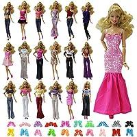ZITA ELEMENT Ropa Barbie 10 Piezas Ropa y Zapatos=5 Sets Vestidos Largo / (