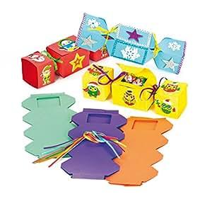 Boîtes cadeaux Pétards de Noël en carton que les enfants pourront fabriquer et décorer (Lot de 6)