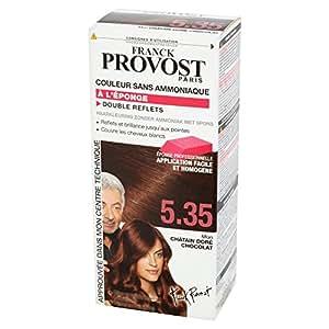 Franck Provost - Couleur Sans Ammoniaque Châtain Doré Chocolat 5.35 + Eponge Professionnelle Offerte
