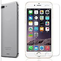 iPhone 7Plus Pellicola Protettiva [vetro temperato] by cuvr con custodia con bordi arrotondati per Apple Iphone 7Plus, 6Plus e 6S Plus.