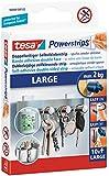 tesa Powerstrips Strips LARGE für max. 2kg, Packung mit 10 Strips