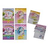 Horses 8 x Notizblock als Set - buntes Motiv Einhorn - kleines Geschenk / Mitgebsel für Kindergeburtstag oder Motto Party