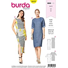 Patrón de costura para vestidos B6418 de Burda Style, talla A (10-12