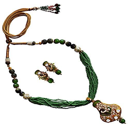 MK Jewellers meenakari EID festival chid mala necklace set-69