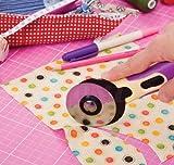 TEXI Profi Rollschneider Stoffschneider Jumbo 60 mm geeignet für Papier Stoff Leder