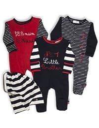 The Essential One - Baby Jungen Schlafanzuge/Schlafanzug/Einteiler/ Strampler (3-er Pack mit Beutel) - ESS113