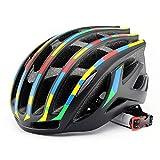 PKNME Fahrradhelm Mountainbike-Hattritzschutz Sporthelm pneumatischer Helm, Helm für Fahrrad Road Bike Cycle,A,54to62cm