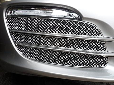 Porsche Boxster 981 - Ensemble calandre extérieur (sans capteurs de stationnement) - Finition argent (2012 onwards)