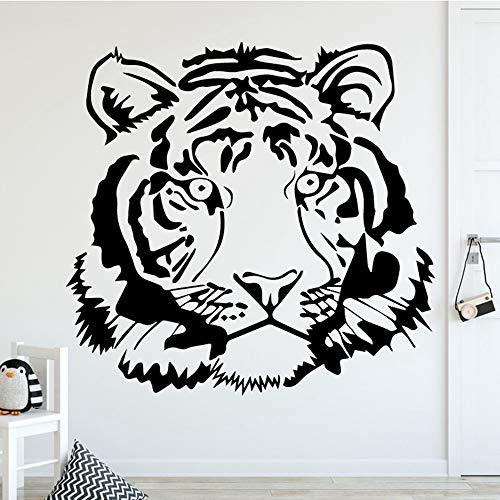 SLQUIET Home Kreative Wilde Wand Tiger Aufkleber Junge Zubehör Applique Wasserdicht Vinyl Kunst Aufkleber Wohnkultur Und Garten Wandaufkleber GELB L 43 cm X 41 cm