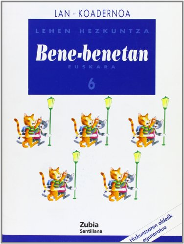 Lan-Koadernoa Bene-Benetan 6 Euskera Zubia - 9788481471205