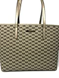 Michael Kors Emry Large TZ Tote Handbag Natural/Pale Gold $328