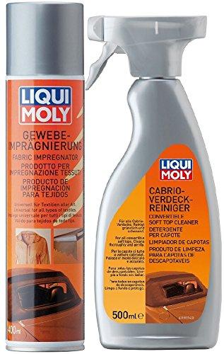 Liqui Moly 1593 Cabrio-Verdeckreiniger 500ml+ 1594 Gewebe-Imprägnierung 400ml
