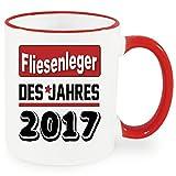 Henkelbecher Rot Berufetasse 2017