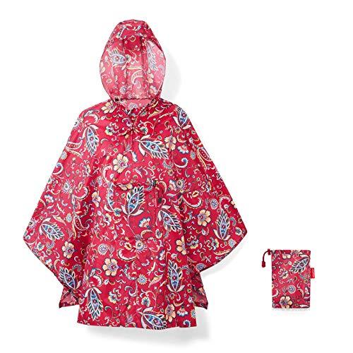Reisenthel Mini Maxi Poncho Regenschirm, 141 cm, Paisley Ruby